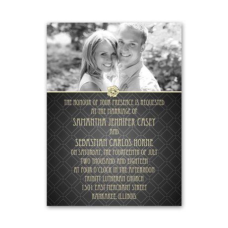 Rose Border - Petite Invitation