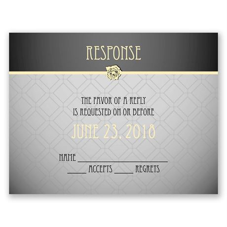 Rose Border  Response Card