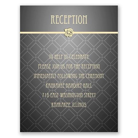 Rose Border  Reception Card