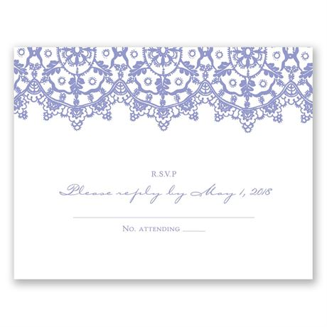 Exotic Lace  Response Card