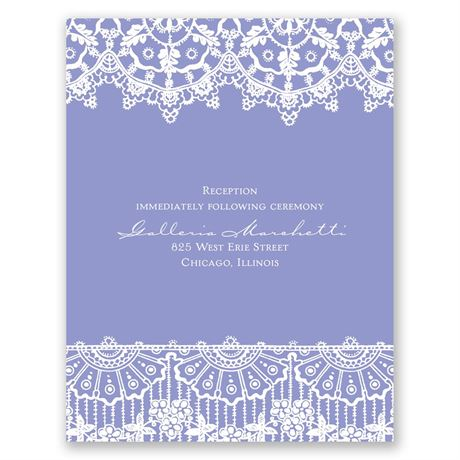 Exotic Lace  Reception Card