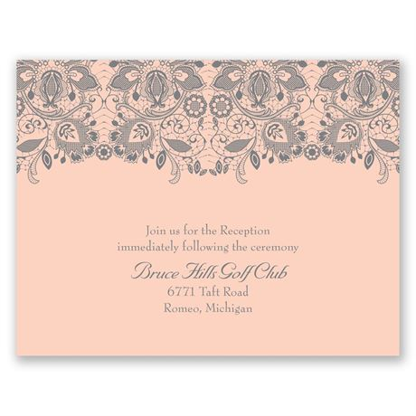 Lacy Romance  Reception Card