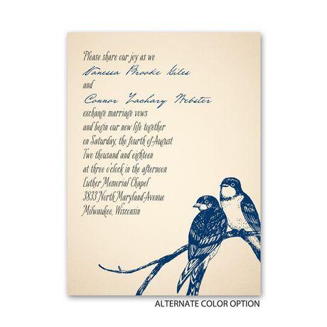 Perched Lovebirds - Petite Invitation