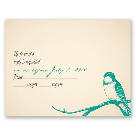 Perched Lovebirds  Response Card
