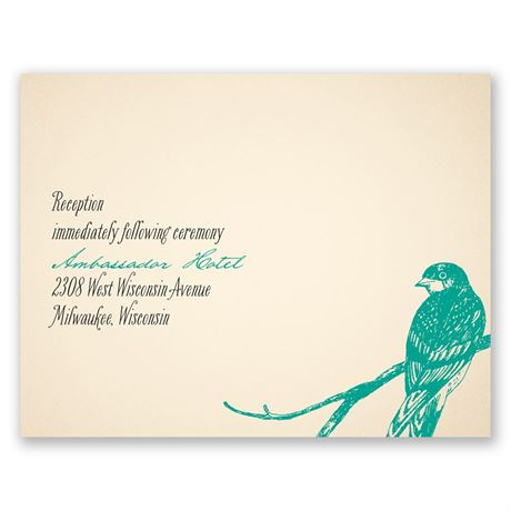 Perched Lovebirds  Reception Card