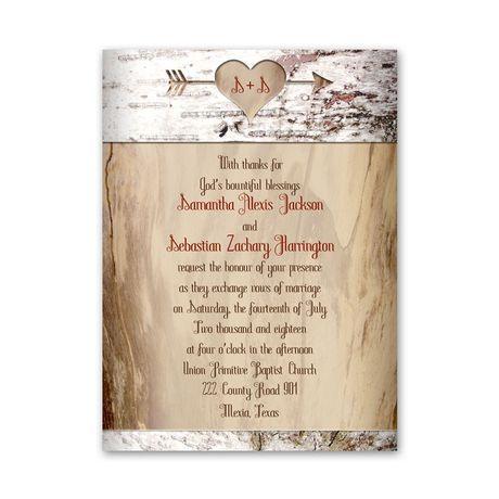 Aged Birch  Petite Invitation