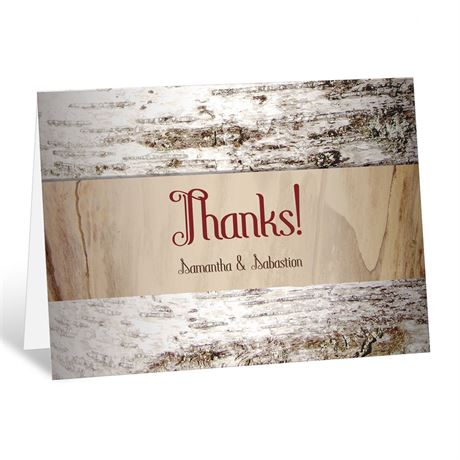 Aged Birch Thank You Card