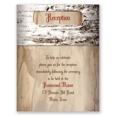 Aged Birch  Reception Card