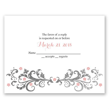 Flowers and Filigree - Response Card