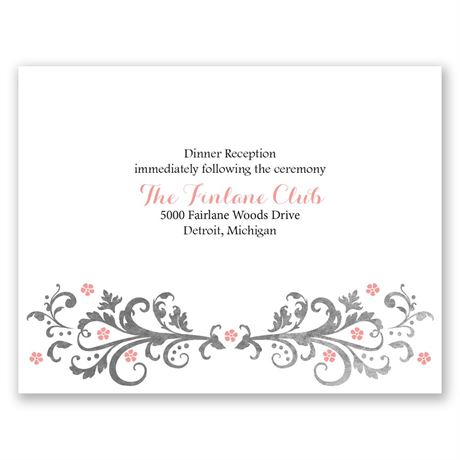 Flowers and Filigree  Reception Card