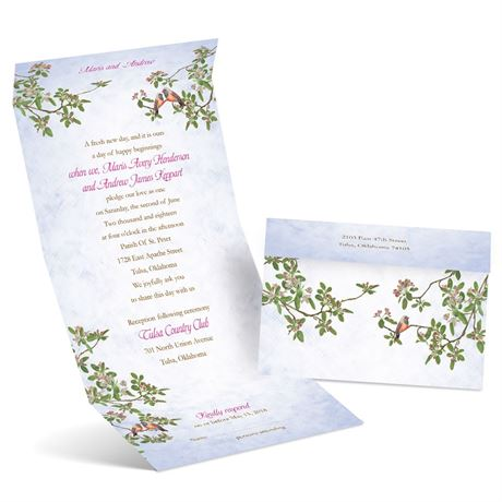Apple Blossoms  Seal and Send Invitation
