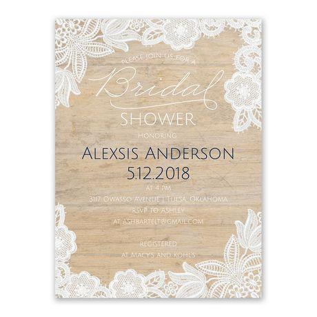 Vintage Country Bridal Shower Invitation