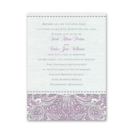Modern Lace - Petite Invitation