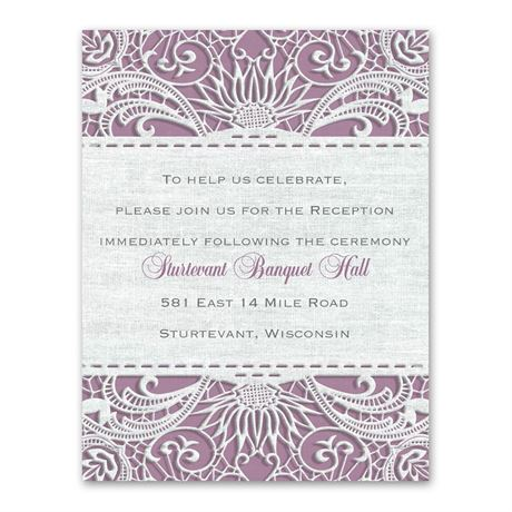 Modern Lace  Reception Card