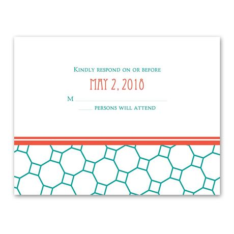 Chic Patterns  Response Card