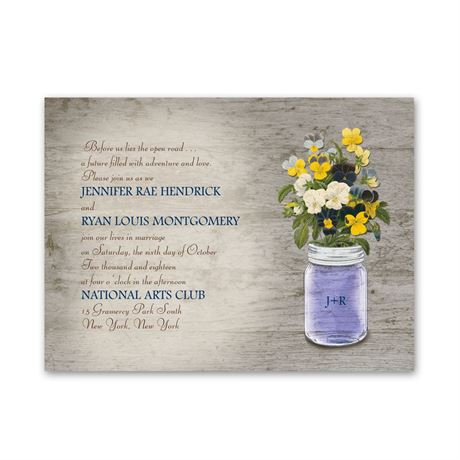 Pretty Pansies  Petite Invitation