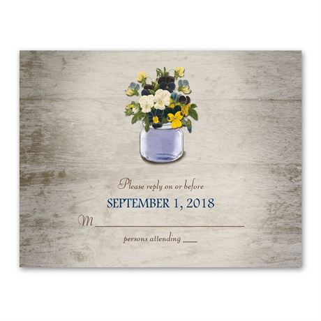 Pretty Pansies  Response Card