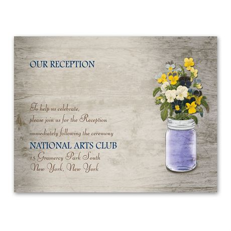 Pretty Pansies  Reception Card