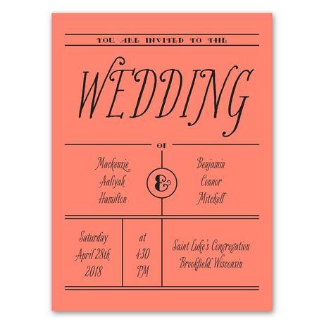 Simple Typography  Petite Invitation