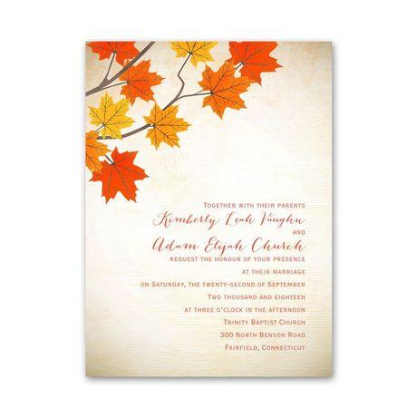 Maple Treasures - Petite Invitation