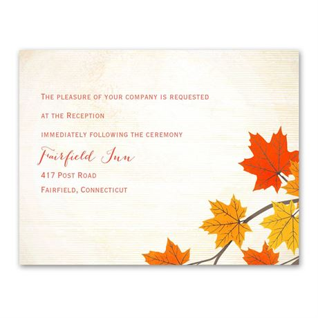 Maple Treasures  Reception Card