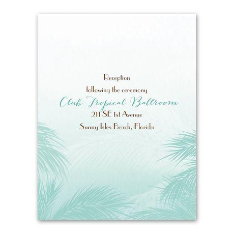 Tropical Haze  Reception Card