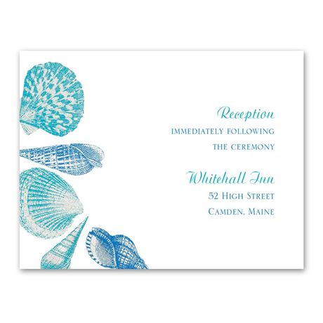 Sea Love  Reception Card
