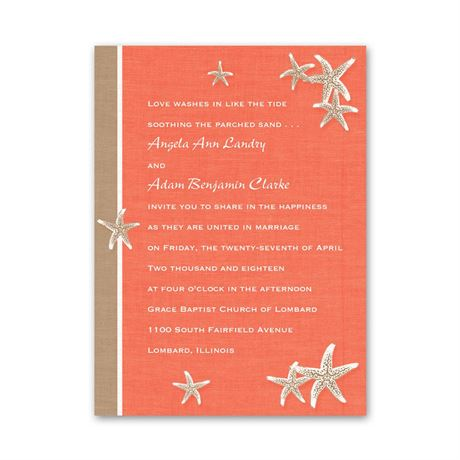 Starfish and Linen  Petite Invitation