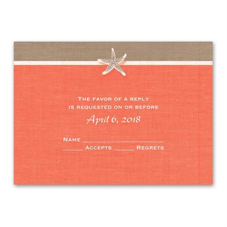 Starfish and Linen  Response Card