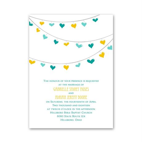 Lovely Garland  Petite Invitation