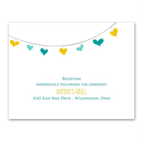 Lovely Garland  Reception Card