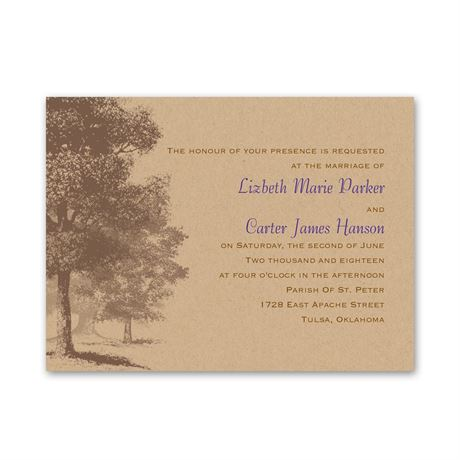 Country Roots  Petite Invitation