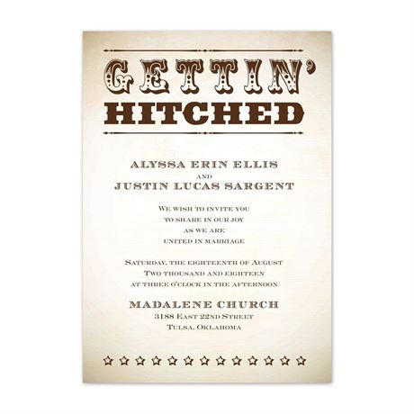 """Let""""s Get Hitched  Invitation"""