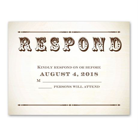 "Let""s Get Hitched  Response Card"