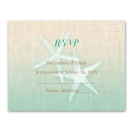 Starfish and Burlap  Response Card