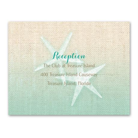 Starfish and Burlap  Reception Card