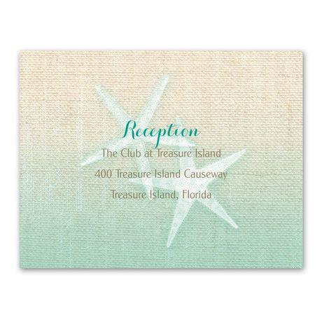 Starfish and Burlap  Reception Card