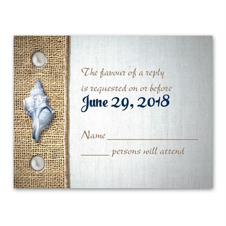 Seashell Buttons  Response Card