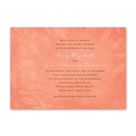 Faded Foliage  Invitation