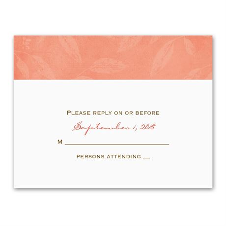 Faded Foliage  Response Card