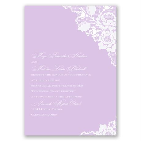 Corner Lace  Invitation