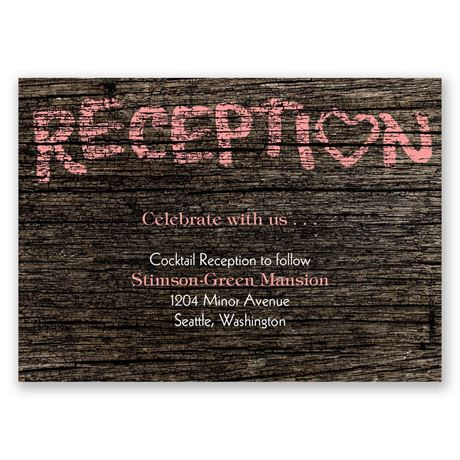 Painted Love  Reception Card