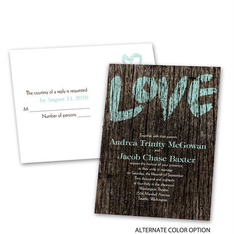 Painted Love - Invitation with Free Response Postcard