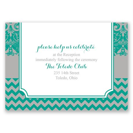 Elegant Patterns  Reception Card
