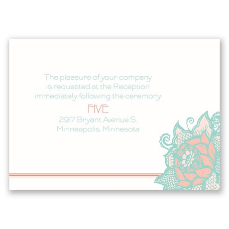 Young Rose  Reception Card