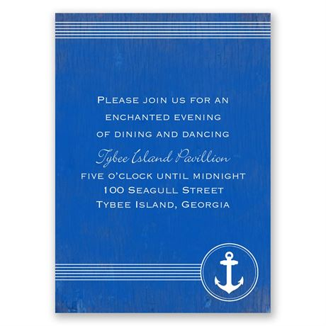 Anchored by Love  Reception Card