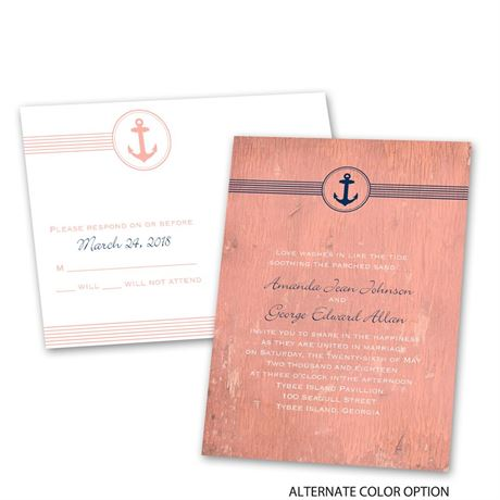 Anchored by Love - Invitation with Free Response Postcard