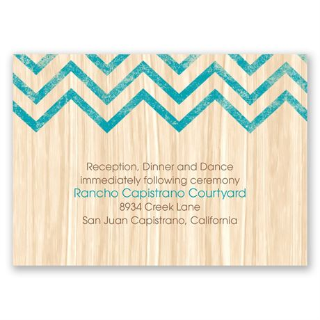 Rustic Appeal  Reception Card