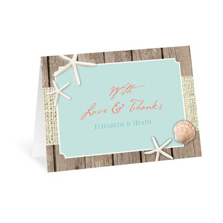 Beach Retreat Thank You Card