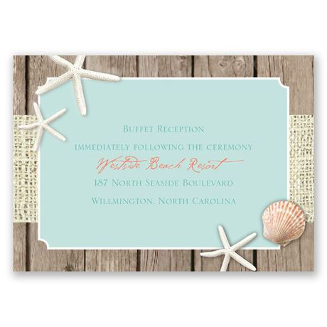 Beach Retreat  Reception Card